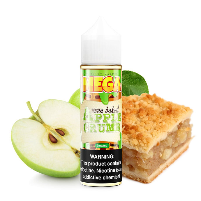 MEGA E-Liquids: Apple Crumb 60ml - Shag Alternative Superstore
