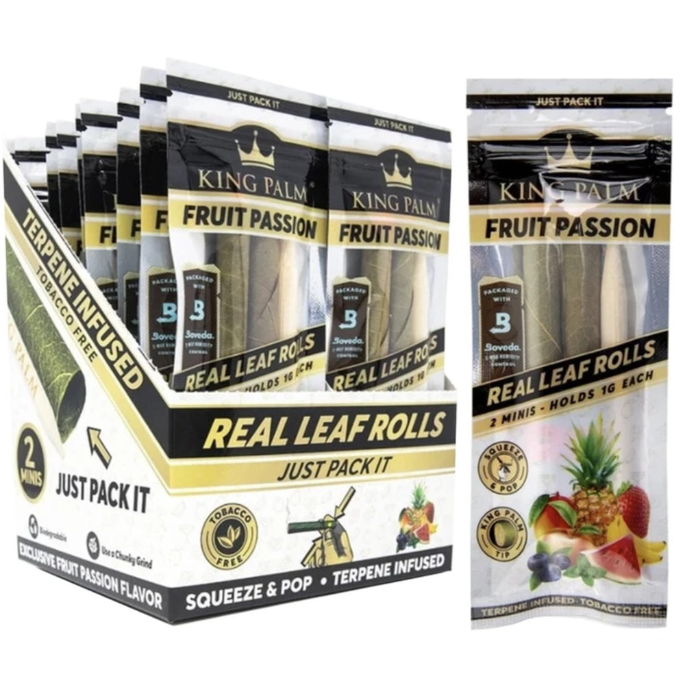 King Palm Fruit Passion Leaf Rolls - 2 Minis