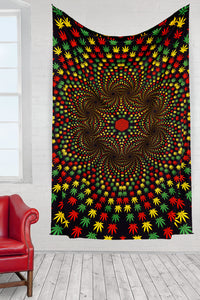 "Weed Vortex 3-D Tapestry (60""x90"") - Shag Alternative Superstore"