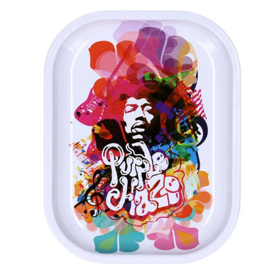 Famous Brandz: Rock Legends Jimi Rainbow Haze Metal Rolling Tray - Small