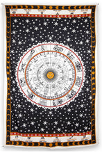 "Load image into Gallery viewer, Astrology Chart Tapestry Tablecloth (52""x80"") - Asst Colors - Shag Alternative Superstore"