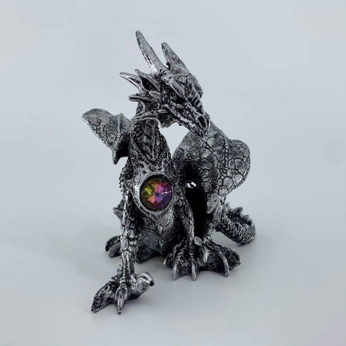 Silver Dragon Figurine (4.5