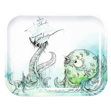 Load image into Gallery viewer, OCB Metal Rolling Trays - Sea Monster - Shag Alternative Superstore