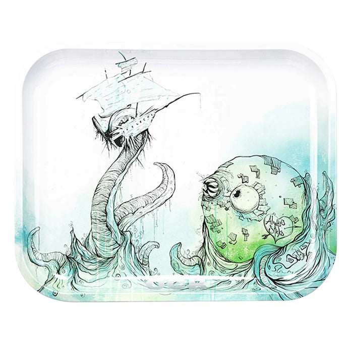 OCB Metal Rolling Trays - Sea Monster - Shag Alternative Superstore