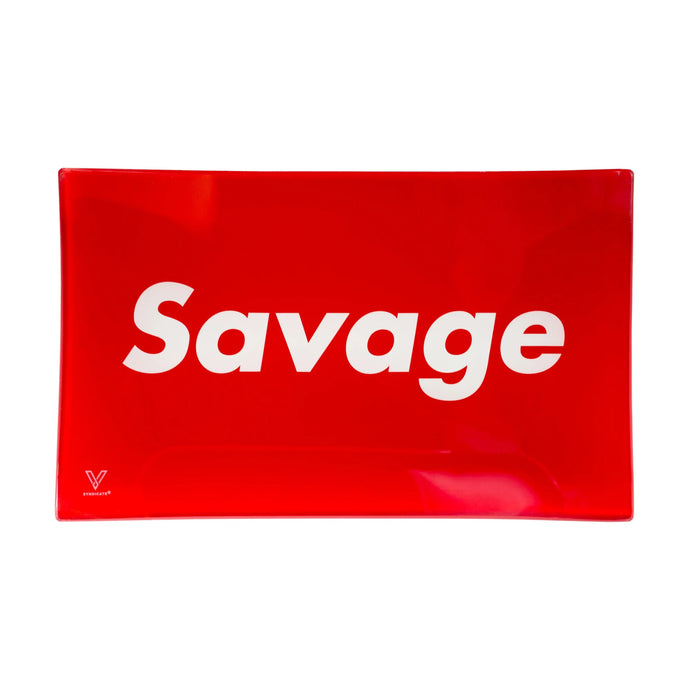 Savage Glass Rolling Tray