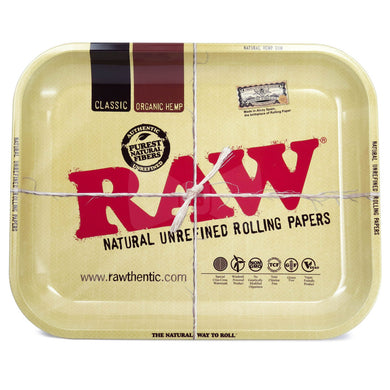 RAW Classic Metal Rolling Tray - Large (13.25x10.75