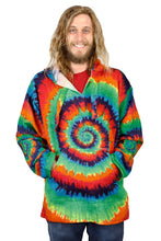 Load image into Gallery viewer, Tie Dye Baja Pullover Hoodie - Shag Alternative Superstore
