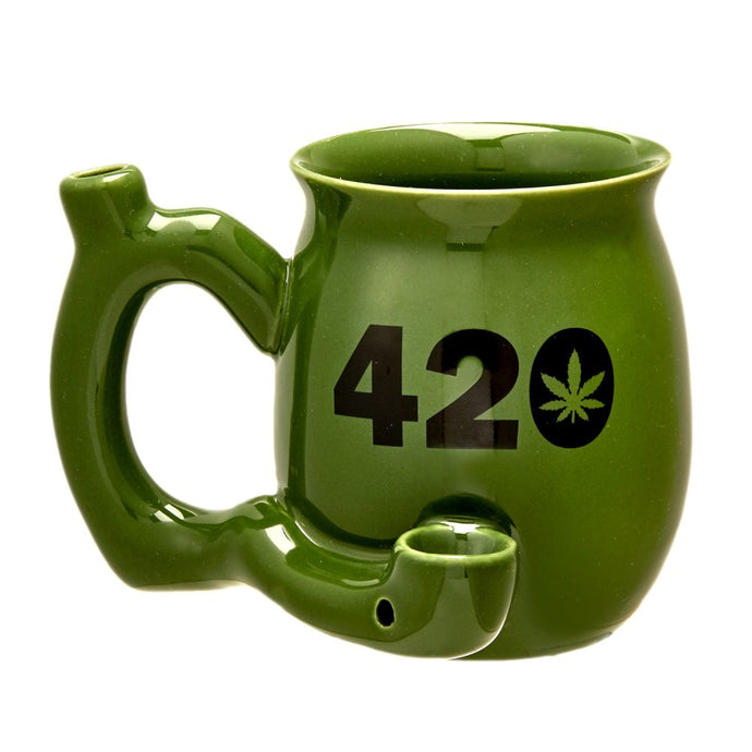 Small 420 Pipe Mug - Green - Shag Alternative Superstore
