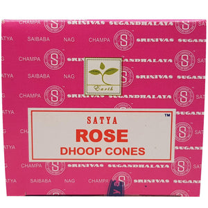 Satya Rose Dhoop Cones - 12 Pack - Shag Alternative Superstore