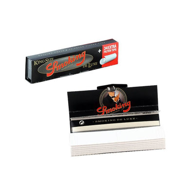 Smoking Deluxe King Rolling Papers + Tips