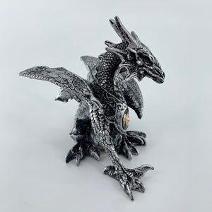 "Silver Dragon Figurine (4.5"")"