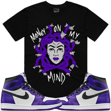 Planet of the Grapes Medusa Black w/ Purple T-Shirt - Shag Alternative Superstore