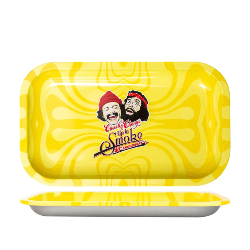 Famous Brandz: Cheech & Chong 40th Anniversary Rolling Tray - Asst Colors/Sizes - Shag Alternative Superstore