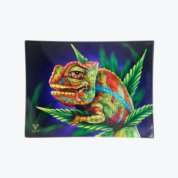 Cloud 9 Chameleon Glass Rolling Tray - Small - Shag Alternative Superstore