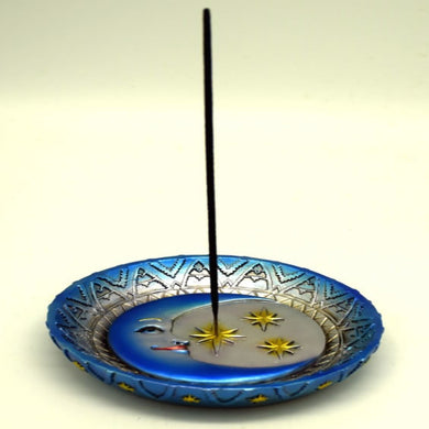 Sun & Stars Round Stick Incense Burner