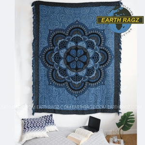"Mandala Tapestry Blanket (60""x80"") - Asst Colors - Shag Alternative Superstore"