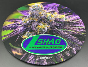 "Shag Buds Round Dabpadz Mat (8"") - Shag Alternative Superstore"