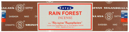 Satya Rain Forest Incense - Asst Sizes - Shag Alternative Superstore