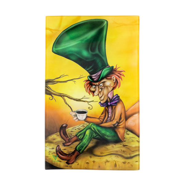 Mad Hatter Glass Rolling Tray - Medium - Shag Alternative Superstore