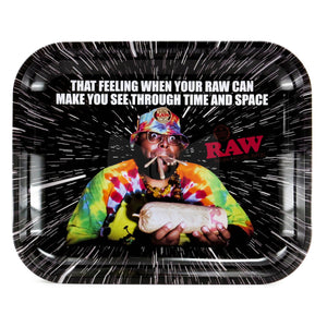 "RAW Oops Metal Rolling Tray - Large (13.25x10.75"") - Shag Alternative Superstore"
