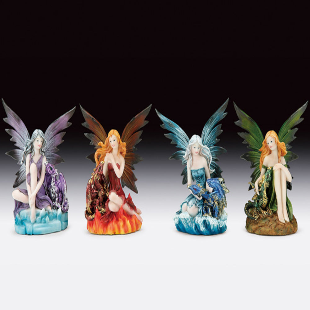 Assorted Fairy with Dragon Figurine (5.25