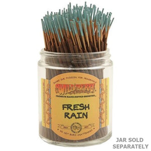 "Wildberry Incense Shorties 4"" - Fresh Rain - Shag Alternative Superstore"