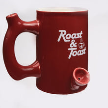 Load image into Gallery viewer, Roast and Toast Pipe Mug - Red - Shag Alternative Superstore
