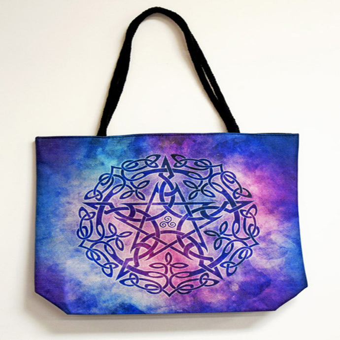 Pentagram Techno Jute Tote Bag - Shag Alternative Superstore