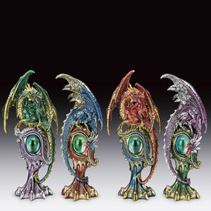 "Assorted Dragon On Eye Statues (7"")"