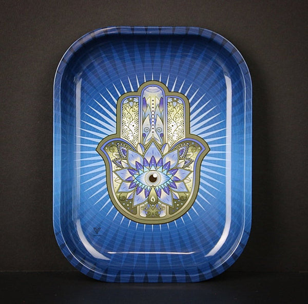 Blue Hamsa Metal Rolling Tray - Shag Alternative Superstore