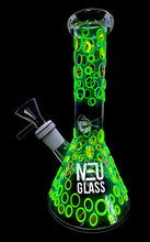 "Load image into Gallery viewer, NEU Glass UV Reactive (Glow) Beaker 8"" - Shag Alternative Superstore"