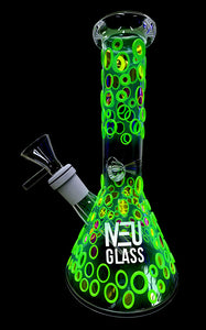 "NEU Glass UV Reactive (Glow) Beaker 8"" - Shag Alternative Superstore"