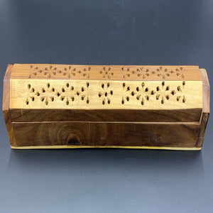 Two Tone Wood Coffin Incense Burner - Shag Alternative Superstore