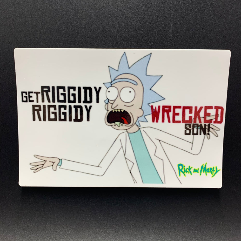"Rick and Morty Riggity Wrecked Sticker (5.5"" x 4"") - Shag Alternative Superstore"
