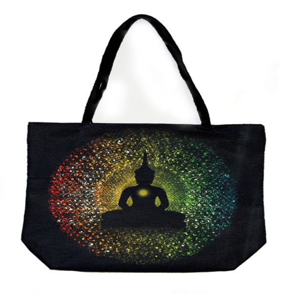 Buddha Techno Jute Tote Bag - Shag Alternative Superstore