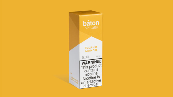 Baton Nic Salts: Island Mango 10ml - Shag Alternative Superstore