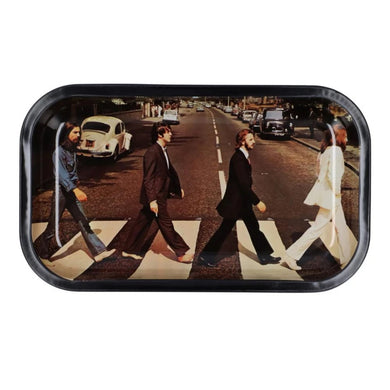Famous Brandz: Rock Legends Fab 4 Abbey Road Metal Rolling Tray - Medium