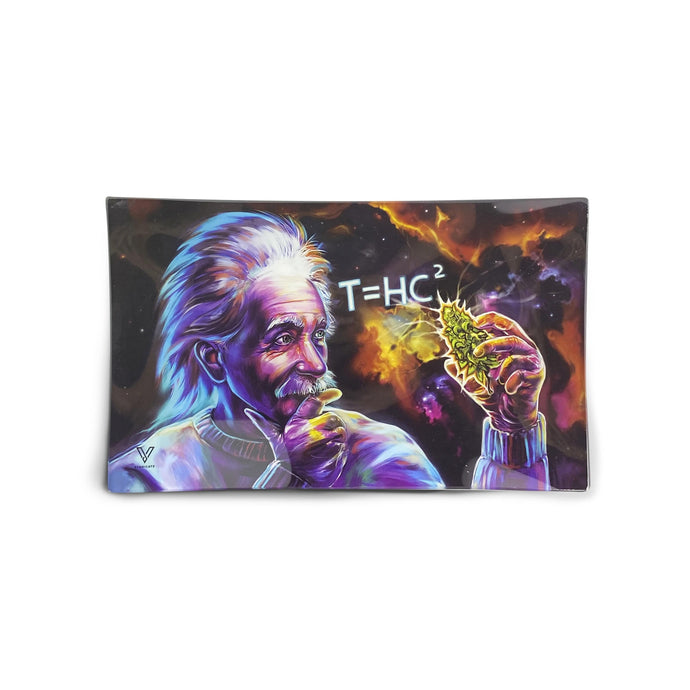 T=HC² Black Hole Glass Rolling Tray