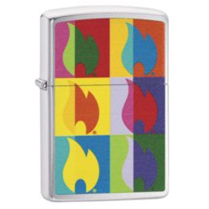 Abstract Flame Design Zippo Lighter