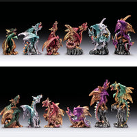 "Small Dragon Figurine (4"") - Assorted Colors"