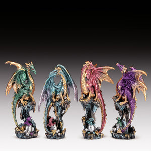 "Assorted Dragon with Hatchlings Figurine (5.75"")"