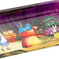 Alice Mushrooms Metal Rolling Tray - Shag Alternative Superstore