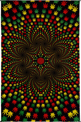 Weed Vortex 3-D Tapestry (60