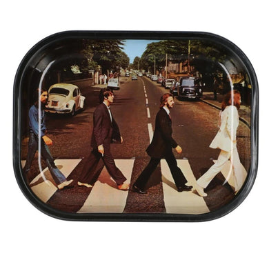 Famous Brandz: Rock Legends Fab 4 Abbey Road Metal Rolling Tray - Small