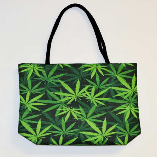 Leaf Techno Jute Tote Bag - Shag Alternative Superstore