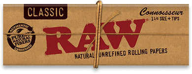 RAW Classic Connoisseur Papers + Tips (1¼ in.) - Shag Alternative Superstore
