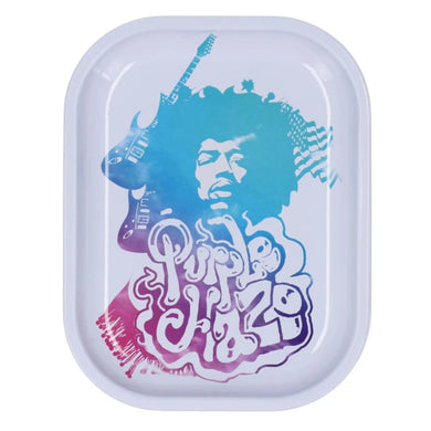 Famous Brandz: Rock Legends Jimi Hendrix Rainbow Haze Metal Rolling Tray - Small
