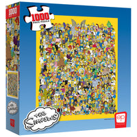 "The Simpsons ""Cast of Thousands"" 1000 Piece Puzzle - Shag Alternative Superstore"
