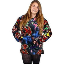 Load image into Gallery viewer, Grateful Dead Dancing Bears Fleece Baja Hoodie - Shag Alternative Superstore