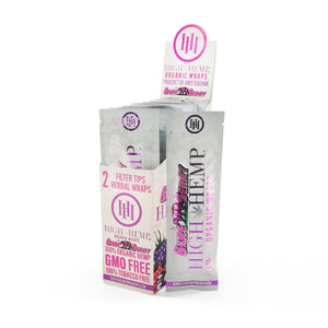 High Hemp Wraps - Bare Berry (2 Pack) - Shag Alternative Superstore